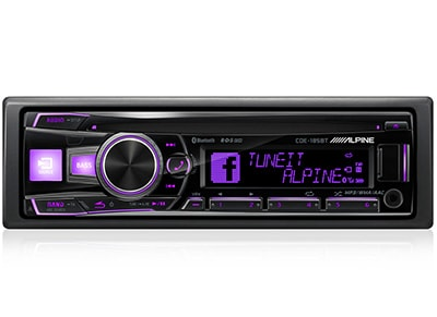 Car Audio Alpine CDE-185BT - Radio/USB/CD/Bluetooth