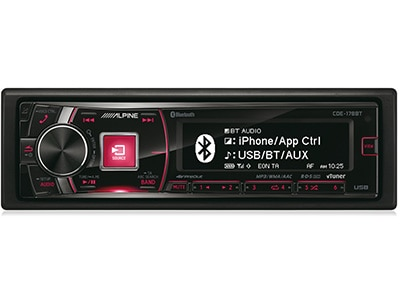 Car Audio Alpine CDE-178BT - Radio/USB/CD/Bluetooth