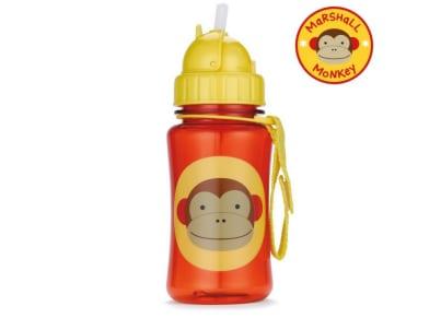 Παιδικό Ποτηράκι με Καλαμάκι - Zoo Straw Bottle Skip Hop Μαϊμού για το φαγητό   αξεσουάρ φαγητού
