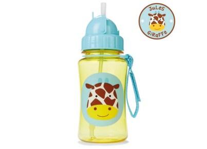 Παιδικό Ποτηράκι με Καλαμάκι - Zoo Straw Bottle Skip Hop Καμηλοπάρδαλη για το φαγητό   αξεσουάρ φαγητού