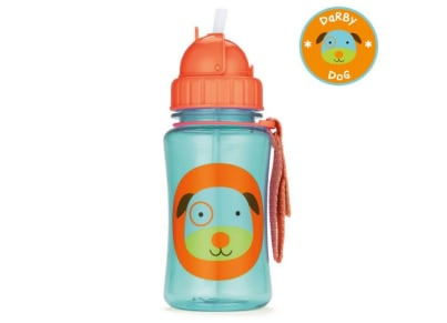 Παιδικό Ποτηράκι με Καλαμάκι - Zoo Straw Bottle Skip Hop Σκυλάκι για το φαγητό   αξεσουάρ φαγητού