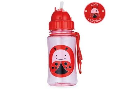 Παιδικό Ποτηράκι με Καλαμάκι - Zoo Straw Bottle Skip Hop Πασχαλίτσα