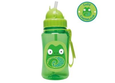 Παιδικό Ποτηράκι με Καλαμάκι - Zoo Straw Bottle Skip Hop Χαμαιλέων για το φαγητό   αξεσουάρ φαγητού