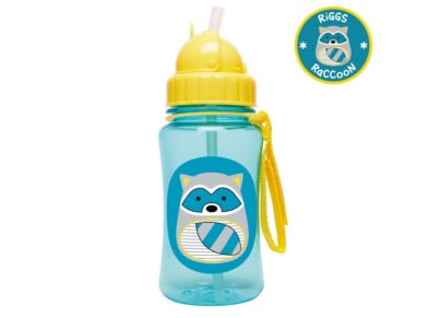 Παιδικό Ποτηράκι με Καλαμάκι - Zoo Straw Bottle Skip Hop Ρακούν για το φαγητό   αξεσουάρ φαγητού