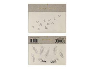 Tatoo Meri-Meri Silver Bird & Feather
