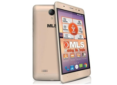 """Smartphone MLS Alu 5.5"""" Dual Sim 8GB Χρυσό"""