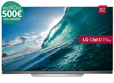 """4K Τηλεόραση 65"""" LG OLED65E7V Smart OLED Ultra HD"""