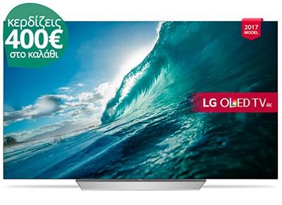 """4K Τηλεόραση 65"""" LG OLED65C7V Smart OLED Ultra HD"""