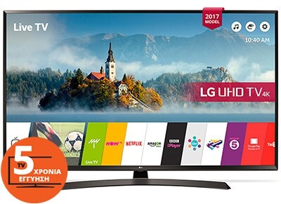 """Τηλεόραση 65"""" LG 65UJ634V Smart LED Ultra HD"""