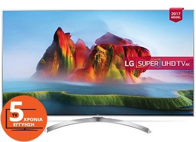 """Τηλεόραση 60"""" LG 60SJ850V Smart LED Super Ultra HD"""
