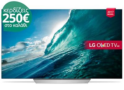 """4K Τηλεόραση 55"""" LG OLED55C7V Smart OLED Ultra HD"""