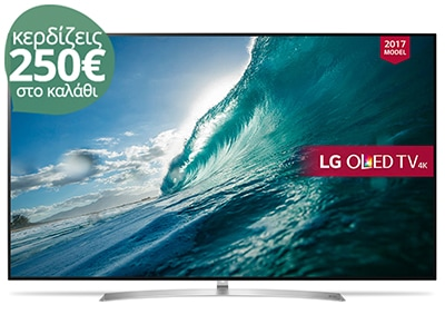 """4K Τηλεόραση 55"""" LG OLED55B7V Smart OLED Ultra HD"""