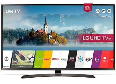"4K Τηλεόραση 49"" LG 49UJ634V Smart LED Ultra HD"