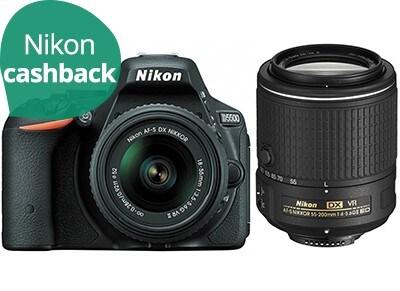 DSLR Nikon D3400 & AF-P 18-55mm & 55-200mm - Μαύρο