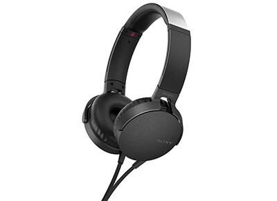 Ακουστικά Κεφαλής Sony On-Ear MDRXB550AP - Μαύρο