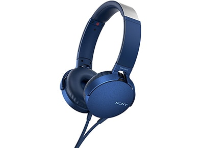 Ακουστικά Κεφαλής Sony On-Ear MDRXB550AP - Μπλε