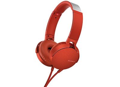 Ακουστικά Κεφαλής Sony On-Ear MDRXB550AP - Κόκκινο