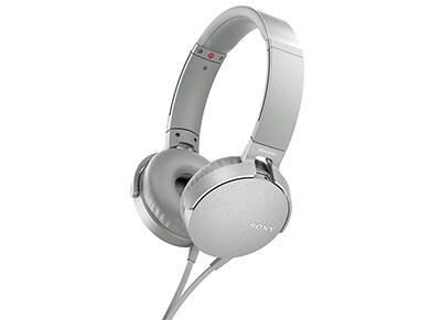 Ακουστικά Κεφαλής Sony On-Ear MDRXB550AP  Λευκά