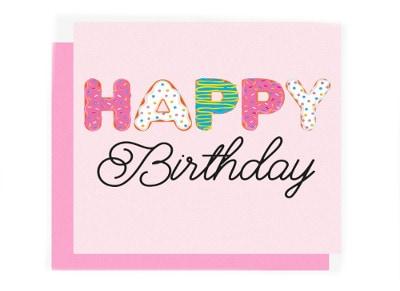 Ευχετήρια Κάρτα LEGAMI Greeting Card Happy Birthday Colorful Donuts