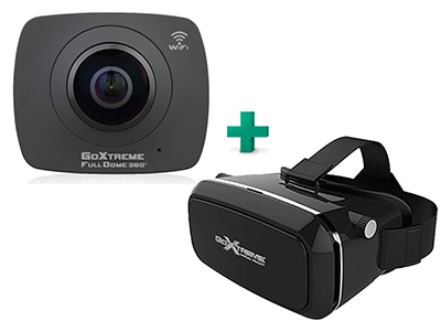 Action Cam GoXtreme Full Dome Double 360 Panorama Wi-Fi & GoXtreme VR Glasses