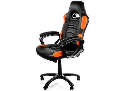 Gaming Chair Arozzi Enzo Μαύρο/Πορτοκαλί
