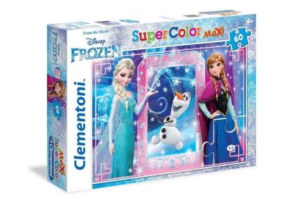 Puzzle Clementoni Super Color Disney: Έλσα Άννα και Όλαφ 60 Maxi κομμάτια