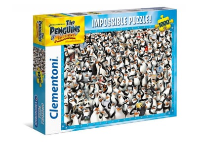 Puzzle Clementoni Impossible: Penguins Madagascar 1000 Κομμάτια