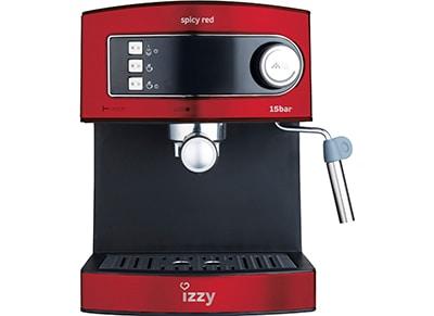Καφετιέρα Espresso Izzy 6823 Spicy Red - 850W - Μαύρο/Inox