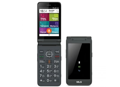 MLS Easy Flip 4G Dual Sim Γκρι - 4G Smartphone