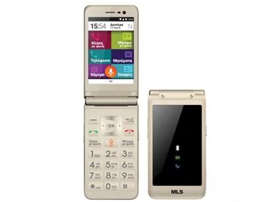 MLS Easy Flip 4G Dual Sim Champagne Χρυσό - 4G Smartphone