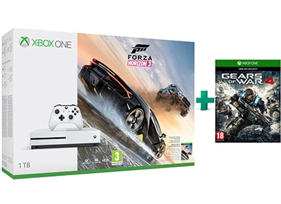 Microsoft Xbox One S White - 1TB & Forza Horizon 3 & Gears of War 4