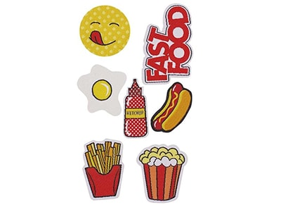 Puro Patch Mania - Fast Food Patch Set (7 τεμάχια)