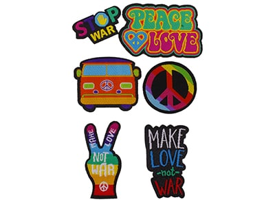 Puro Patch Mania - Peace & Love Patch Set (6 τεμάχια)
