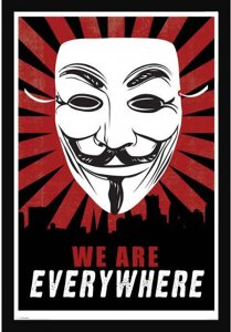 Anonymous We Are Everywhere Poster