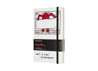 Σημειωματάριο - Moleskine - Keith Haring Λευκό Large