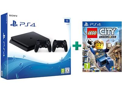 Sony PlayStation 4 - 1TB Slim D Chassis & LEGO City Undercover & 2ο Χειριστήριο (μαύρο)