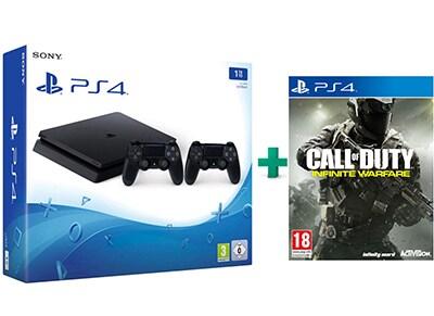 Sony PlayStation 4 - 1TB Slim D Chassis & Call of Duty Infinite Warfare & 2ο Χειριστήριο (μαύρο)