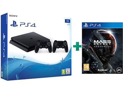 Sony PlayStation 4 - 1TB Slim D Chassis & Mass Effect Andromeda & 2ο Χειριστήριο (μαύρο)