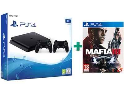 Sony PlayStation 4 - 1TB Slim D Chassis & Mafia III & 2ο Χειριστήριο (μαύρο)