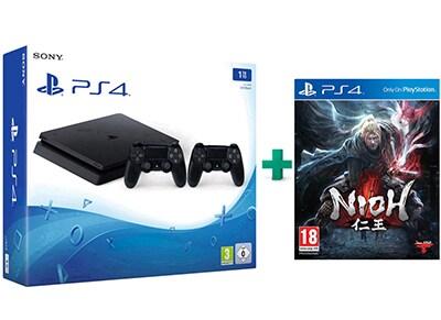 Sony PlayStation 4 - 1TB Slim D Chassis & Nioh & 2ο Χειριστήριο (μαύρο)