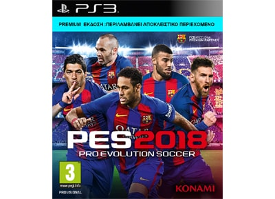 Pro Evolution Soccer 2018 Day 1 Premium Edition  - PS3 Game