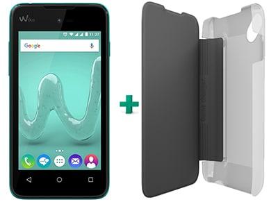 Smartphone Wiko Sunny Dual Sim 8GB Τυρκουάζ & δώρο flip θήκη