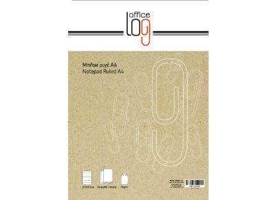 Μπλοκ - Office Log - Overlap Ριγέ - Α4 70g - 50 Φύλλων