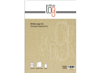 Μπλοκ - Office Log - Overlap Καρέ Α4 70g 50 Φύλλων
