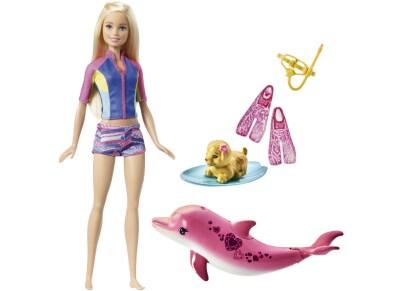 Barbie Κούκλα Εκπαιδεύτρια Περιπέτεια με Δελφίνια