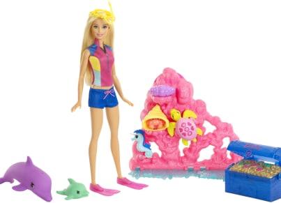 Barbie Περιπέτεια με Δελφίνια - Βυθός FCJ29