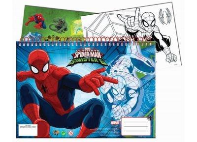 Μπλοκ Ζωγραφικής - Gim - Α4 40 Φύλλων & Αυτοκόλλητα Spiderman