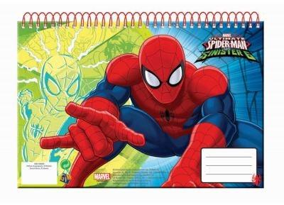 Μπλοκ Ζωγραφικής - Gim - Spiderman Α4 Σπιράλ 30 Φύλλων