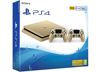 Sony PlayStation 4 - 500GB Slim Gold & 2ο χειριστήριο