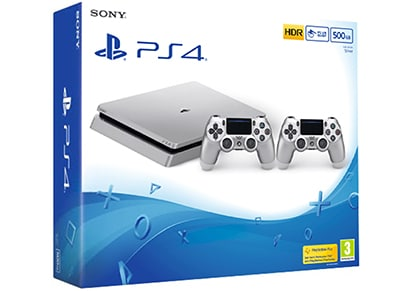 Sony PlayStation 4 - 500GB Slim Silver & 2ο χειριστήριο